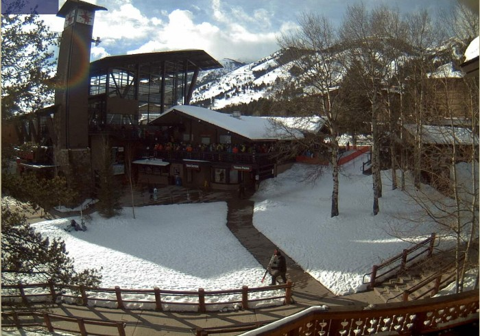 View of the Jackson Hole Mountain Resort Tram web camera